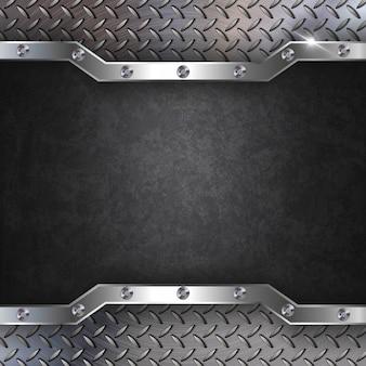 Sfondo metallico nero acciaio