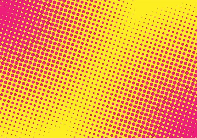 Sfondo mezzetinte sfumato giallo-rosa. stile pop art.