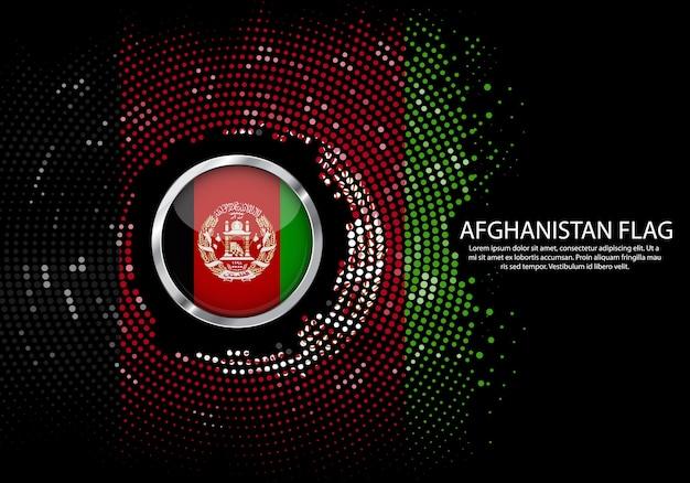 Sfondo mezzitoni modello sfumato o led luce al neon sullo stile puntino rotondo dell'afghanistan