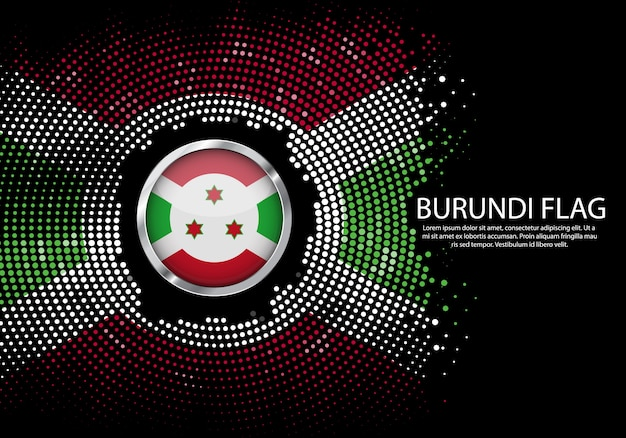 Sfondo mezzitoni modello sfumato o led luce al neon sullo stile rotondo punti del burundi
