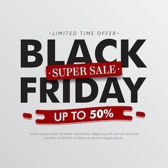 Sfondo minimalista di vendita venerdì nero