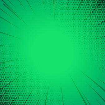Sfondo modello di stile di fumetti verde