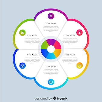 Sfondo modello infografica piatta