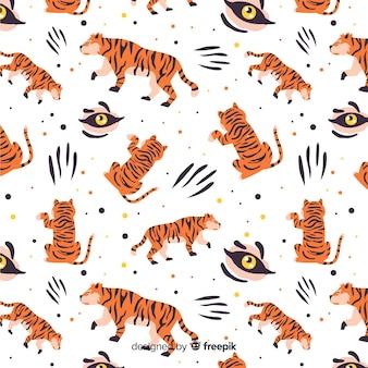 Sfondo modello tigre
