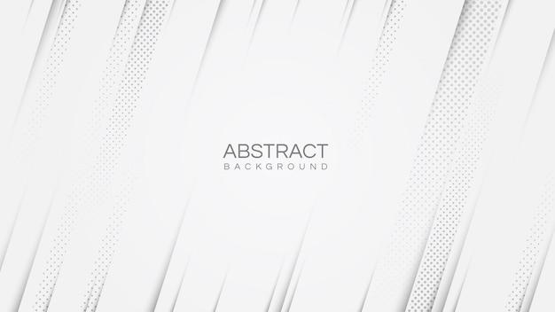 Sfondo moderno bianco astratto con strisce di linee diagonali