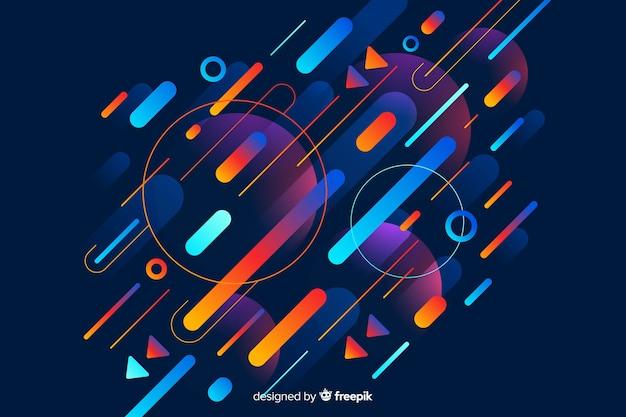 Sfondo moderno con forme dinamiche gradiente