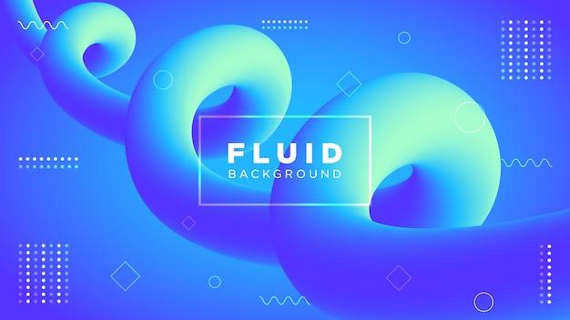 Sfondo moderno con forme fluide