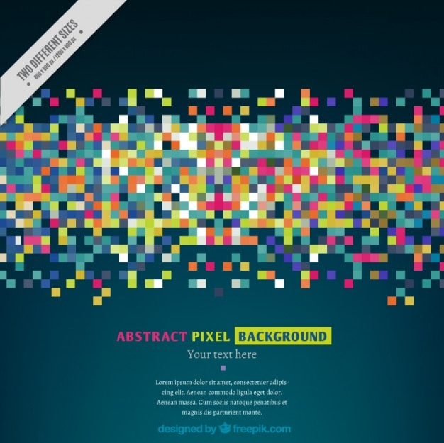 Sfondo moderno di pixel colorati