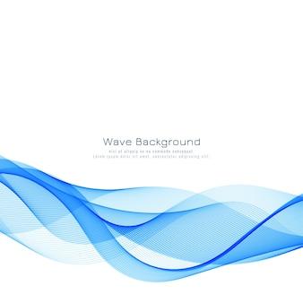 Sfondo moderno elegante onda blu