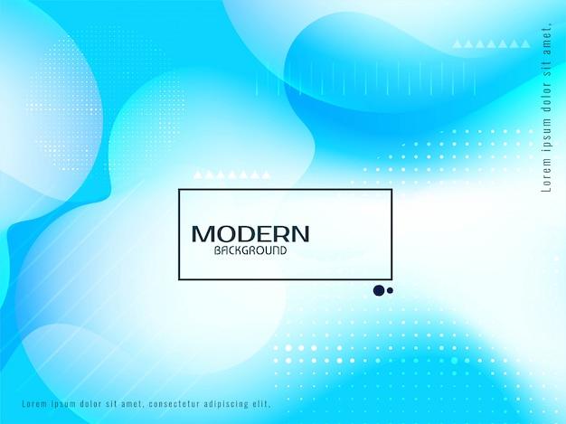Sfondo moderno flusso blu liquido