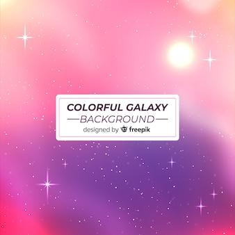 Sfondo moderno galassia con stile colorato