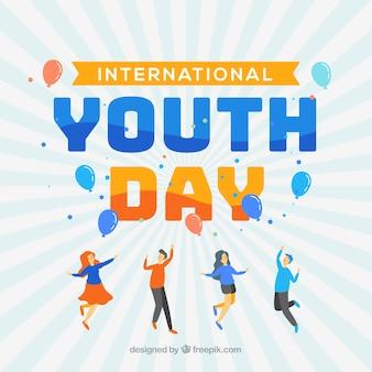 Sfondo moderno giorno della gioventù