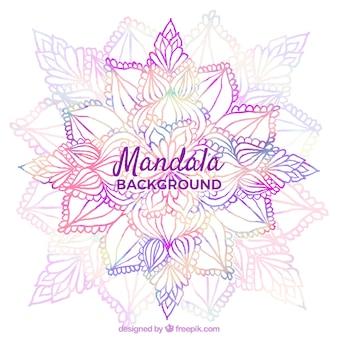 Sfondo moderno mandala con stile colorato