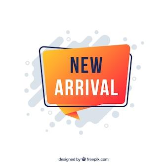 Sfondo moderno nuovo arrivo