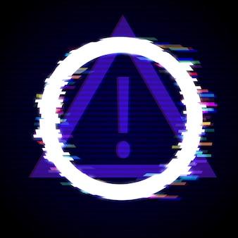 Sfondo moderno stile distorto glitch. disegno del telaio del cerchio glitched