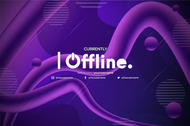 Sfondo moderno twitch offline