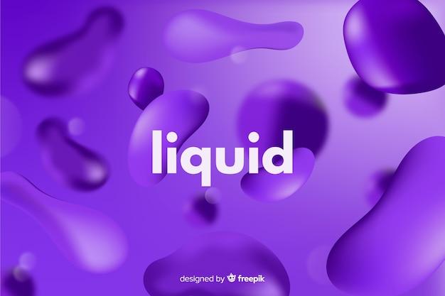 Sfondo monocromatico realistico effetto liquido