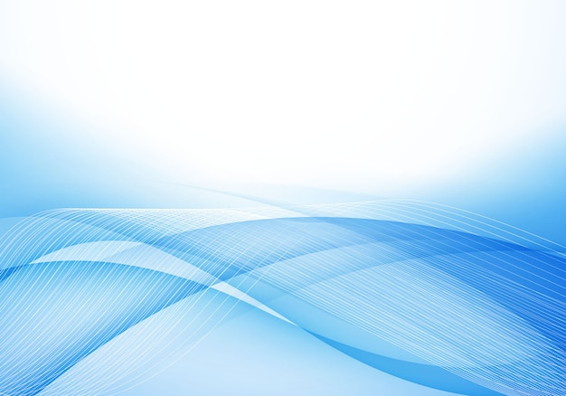 Sfondo morbido onda blu
