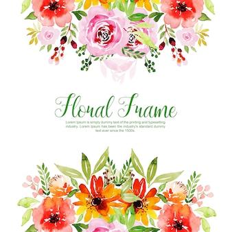Sfondo multiuso per la cornice floreale dell'acquerello