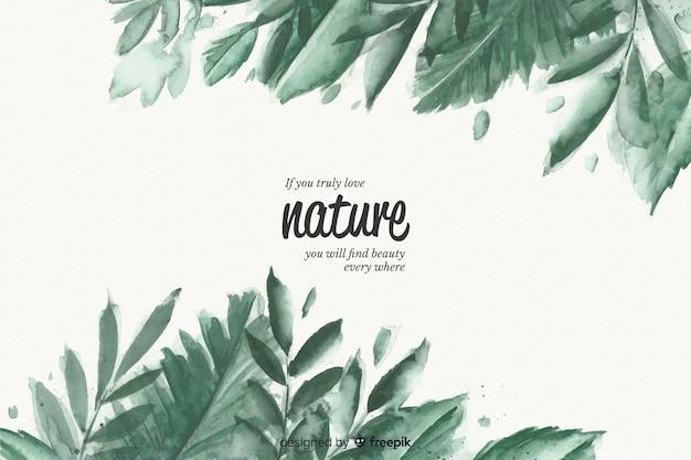 Sfondo naturale con citazione