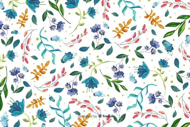 Sfondo naturale con fiori dipinti colorati