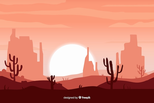 Sfondo naturale con paesaggio desertico