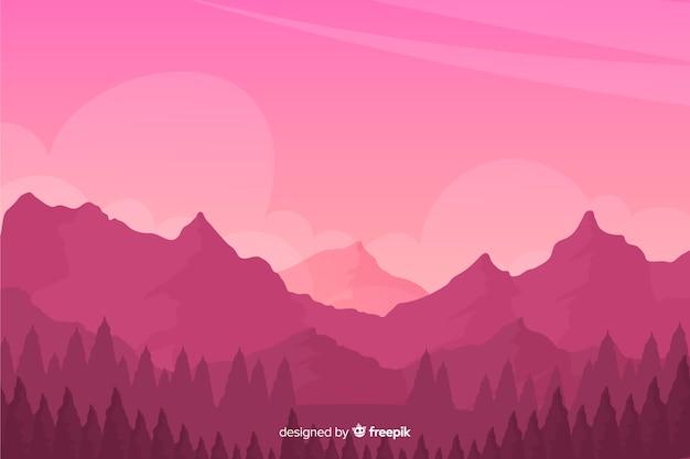 Sfondo naturale con paesaggio montano
