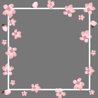 Sfondo naturale giapponese floreale astratto di sakura flower