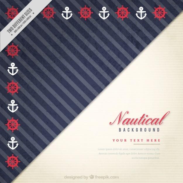 Sfondo nautica d'epoca con timoni e ancoraggi