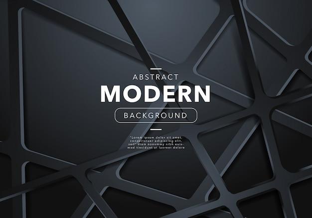 Sfondo nero astratto moderno con forme