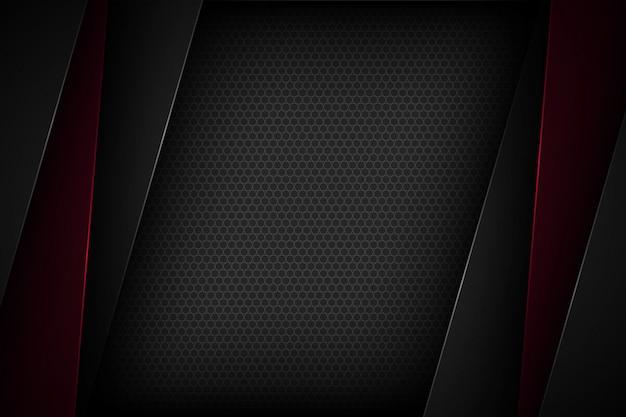 Sfondo nero astratto vettoriale con caratteristiche sovrapposte.