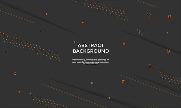 Sfondo nero con composizione di forme dinamiche
