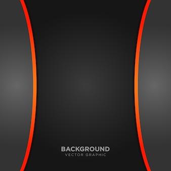 Sfondo nero con dettagli arancioni