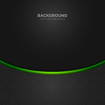 Sfondo nero con dettagli verdi