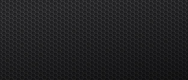 Sfondo nero con maglia metallica con celle esagonali