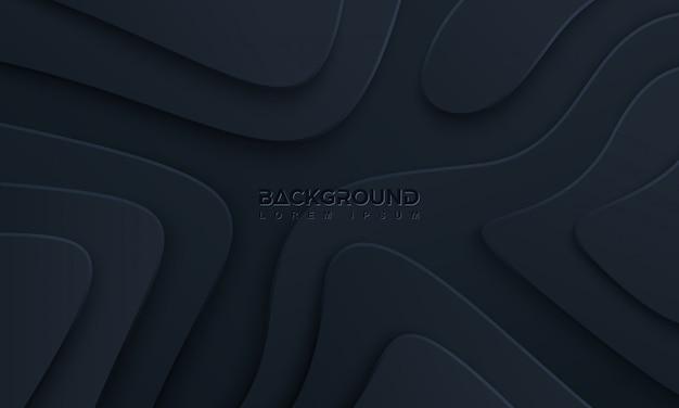 Sfondo nero con stile 3d.