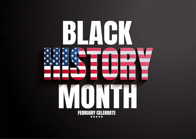 Sfondo nero del mese di storia