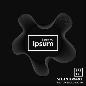Sfondo nero dell'onda sonora
