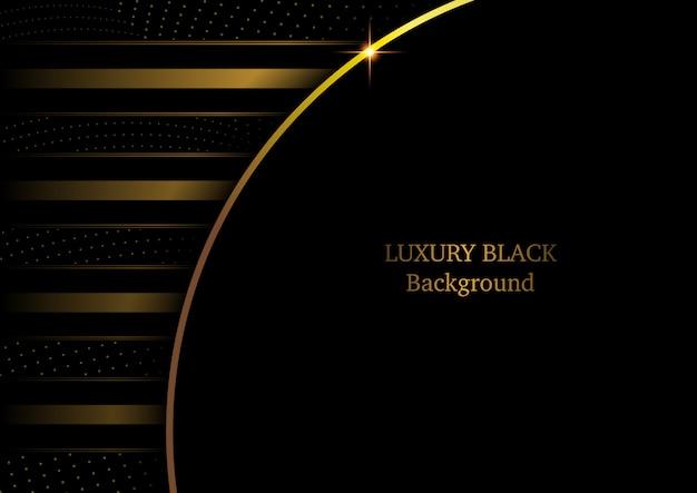 Sfondo nero di lusso