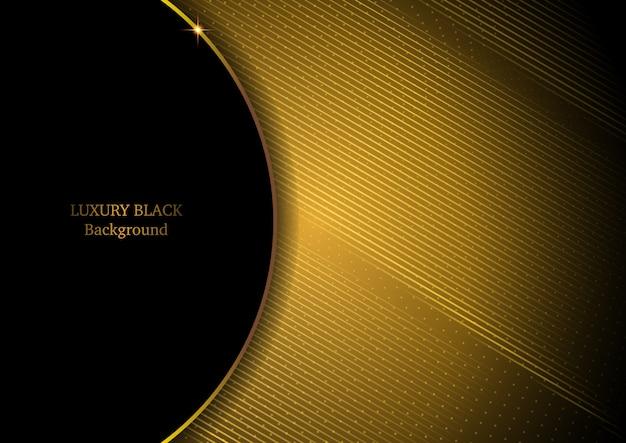 Sfondo nero e oro di lusso