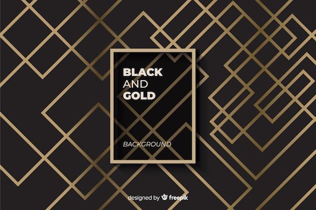 Sfondo nero e oro