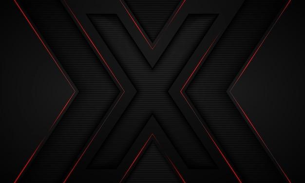 Sfondo nero e simbolo x.