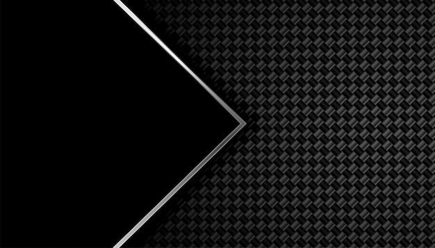 Sfondo nero in fibra di carbonio con spazio testo
