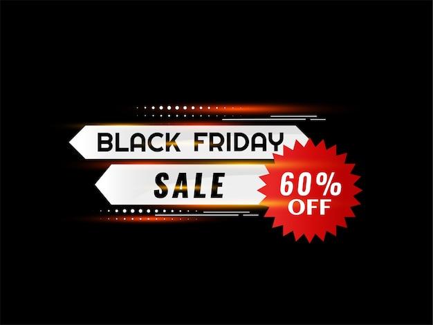 Sfondo nero lucido di vendita venerdì nero
