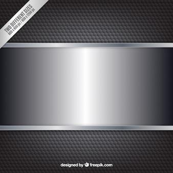 Sfondo nero metallico con banner