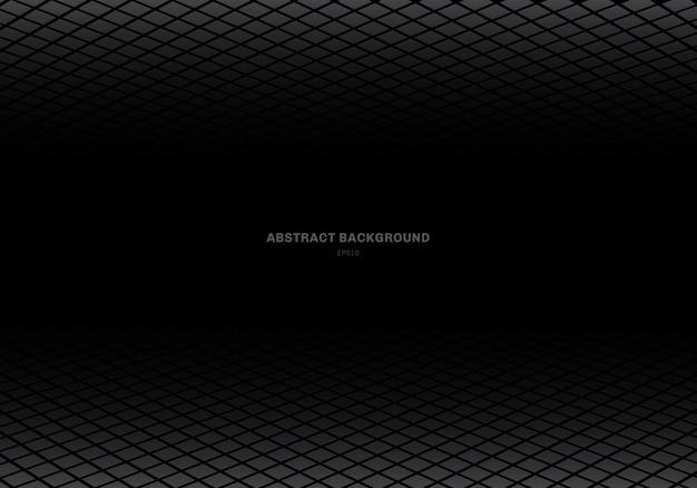 Sfondo nero quadrato grigio modello astratto