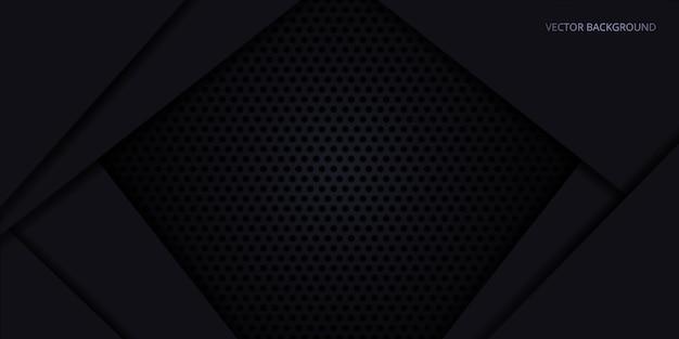 Sfondo nero. trama in fibra di carbonio scuro. struttura in metallo scuro acciaio sfondo.