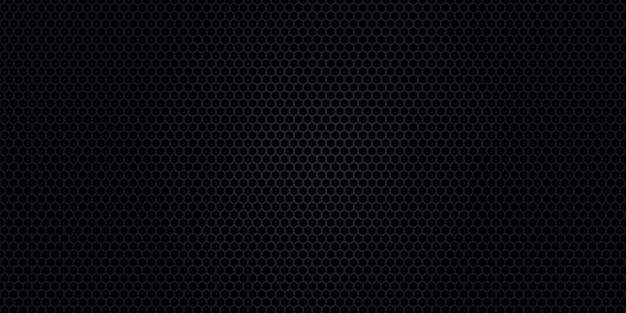 Sfondo nero. trama in fibra di carbonio scuro. trama di metallo nero sfondo di acciaio.