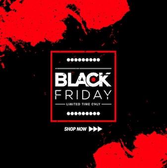 Sfondo nero venerdì con dettagli bianchi