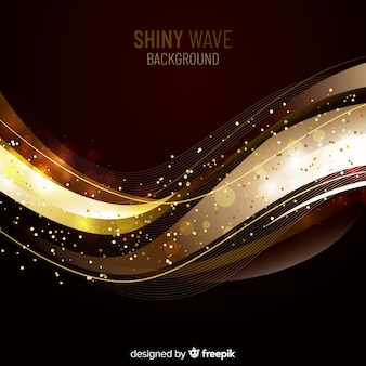 Sfondo onda lucente